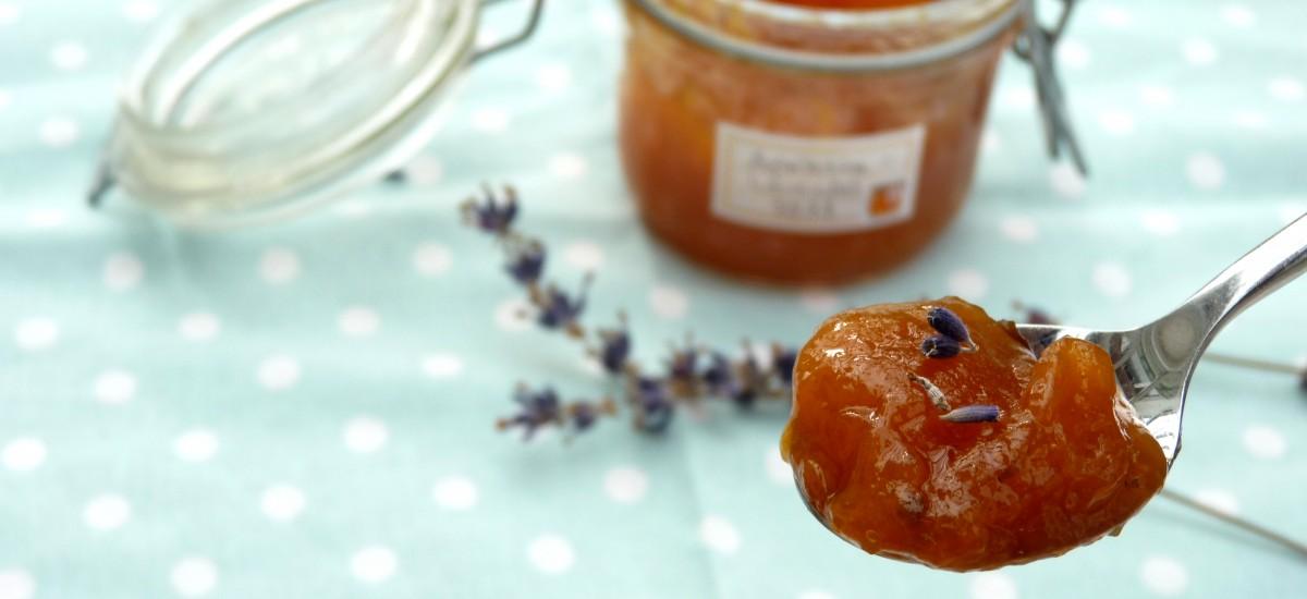 Aprikosen-Lavendel-Konfitüre