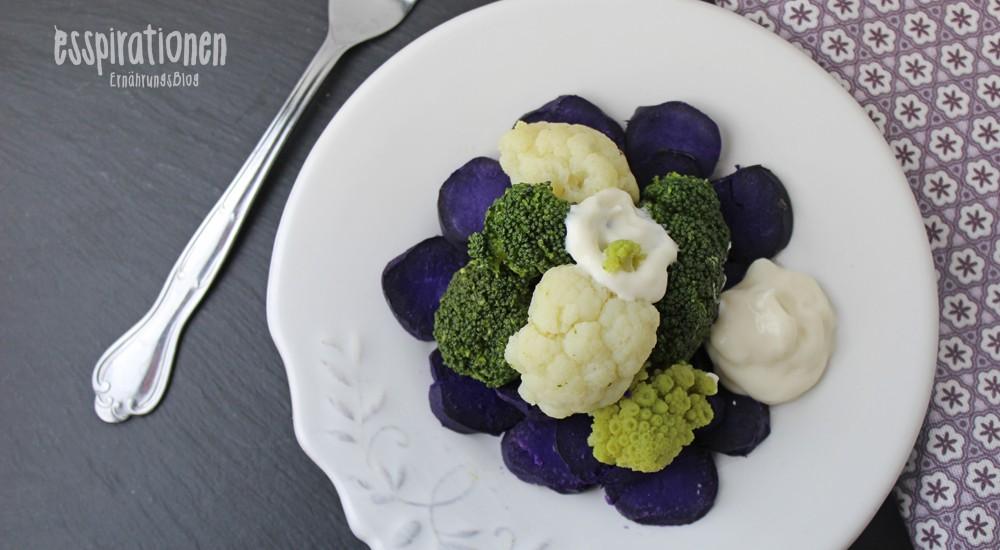 Kartoffelsalat mit Röschenkohl